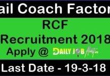 RCF Recruitment 2018