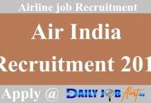 Air India Recruitment 2018