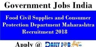 Food Civil Supplies and Consumer Protection Department Maharashtra Recruitment 2018