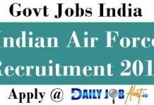 Indian Air Force Recruitment 2018