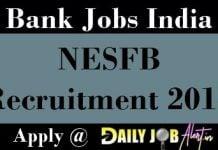NESFB Recruitment 2018