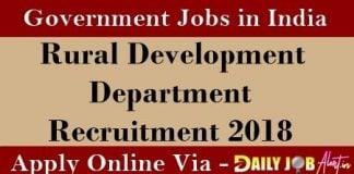RDD Recruitment 2018