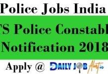 TS Police Constable Notification 2018