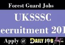 UKSSSC Recruitment 2018