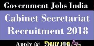 Cabinet Secretariat Recruitment 2018