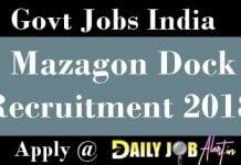 Mazagon Dock Recruitment 2018