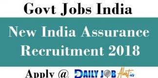 New India Assurance Recruitment 2018