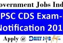 UPSC CDS Exam-II Notification 2018