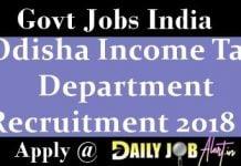 Odisha Income Tax Department Recruitment 2018