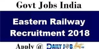 Eastern Railway Recruitment 2018