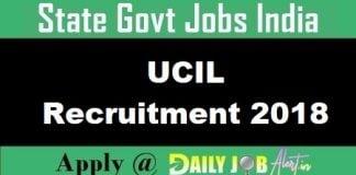 UCIL Recruitment 2018