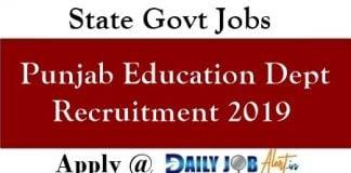 Punjab Education Dept Recruitment 2019 - 1933 Head Teacher Posts